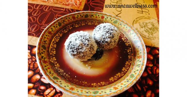 My favourite chocolate & coconut balls