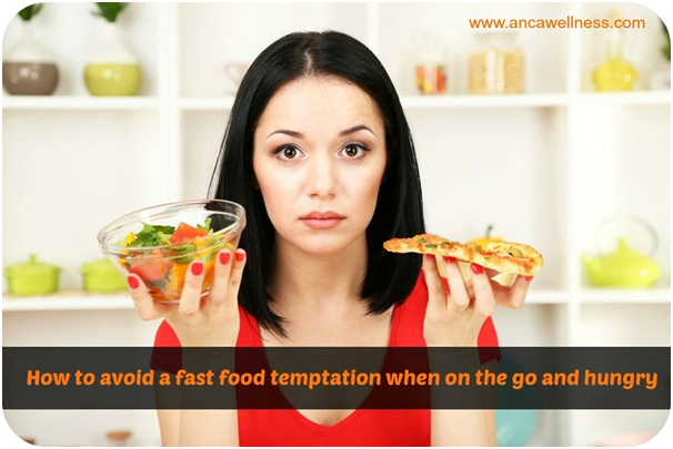 avoid a fast food temptation